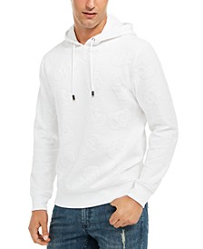 INC Men's Textured Skull Hoodie, Created for Macy's
