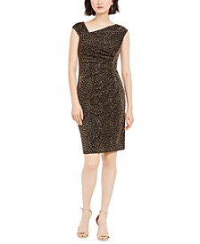 Metallic Animal-Print Bodycon Dress