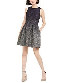Twill Fit & Flare Dress