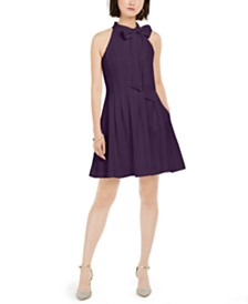 Vince Camuto Petite Bow-Tie Fit & Flare Dress