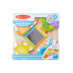 Melissa and Doug Peek-a-Boo Touch & Feel Puzzle