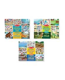 Melissa and Doug Reusable Sticker Bundle - Vehicles, Habitats and Prehistoric Themes