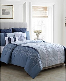 Carmie 7-Pc. Queen Comforter Set