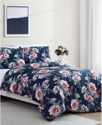 Shelley Floral 3-Pc. Full/Queen Duvet Cover Set