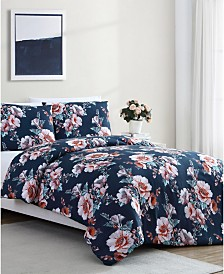 Shelley Floral 3-Pc. Full/Queen Comforter Set