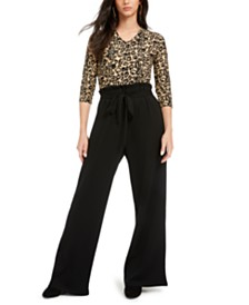 Ultra Flirt Juniors' Paperbag-Pant Jumpsuit