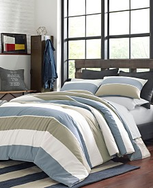 Nautica Wilburn Brown Comforter Sham Set, Full/Queen