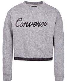 Converse Big Girls Cropped Sweatshirt