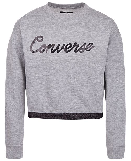 Converse Big Girls Cropped Sweatshirt