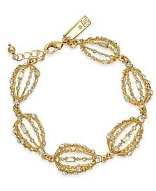 INC Gold-Tone Crystal Bulb Link Bracelet, Created for Macy's