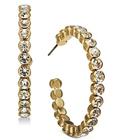 INC Gold-Tone Large Crystal Hoop Earrings, Created for Macy's