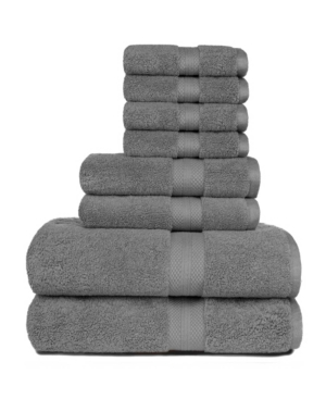 Image of American Dawn Heirloom Manor Sarajane 800 Gsm Benzoyl Peroxide Friendly Solid 8 Piece Bath Towel Set Bedding