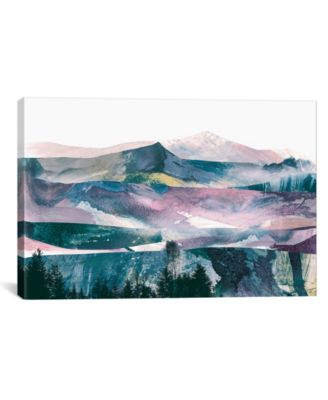 "Pink Range by Dan Hobday Wrapped Canvas Print - 26"" x 40"""