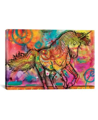 """Unicorn by Dean Russo Wrapped Canvas Print - 26"""" x 40"""""""