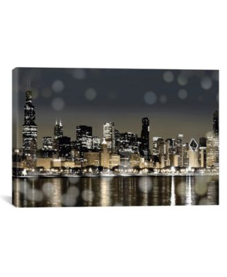 Chicago Nights I by Kate Carrigan Wrapped Canvas Print - 18