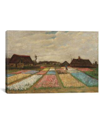 "Tulpenfelder Tulip Fields by Vincent Van Gogh Wrapped Canvas Print - 26"" x 40"""