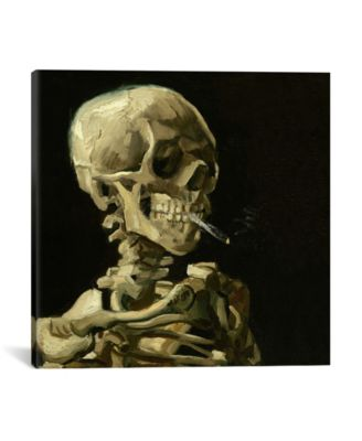 """Head Of A Skeleton With A Burning Cigarette by Vincent Van Gogh Wrapped Canvas Print - 18"""" x 18"""""""