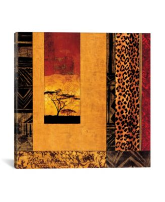 """African Studies I by Chris Donovan Wrapped Canvas Print - 37"""" x 37"""""""