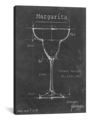 "Barware Blueprint Vi by Ethan Harper Wrapped Canvas Print - 40"" x 26"""