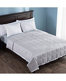 Lightweight Down Blanket with Satin Weave Full/Queen
