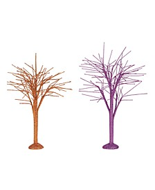 Dept 56 Oct Sparkle Bare Branch Trees