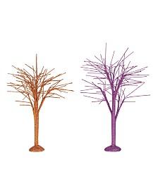 Dept 56 Oct Sparkle Bare Branch Trees