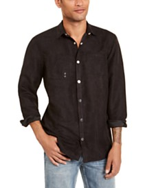 I.N.C. Men's Faux Suede Shirt, Created for Macy's