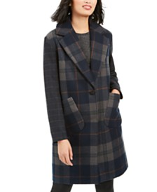 Kendall + Kylie Plaid Walker Coat