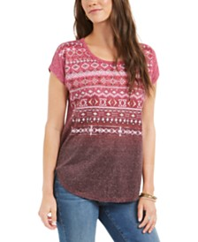 Style & Co Ombré Graphic T-Shirt, Created for Macy's