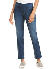 Straight-Fit Pull-On Jeans, Created for Macy's