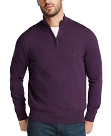 Nautica Men's Navtech Quarter-Zip Sweater