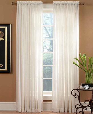 Miller curtains sheer preston rod pocket 51 x 108 panel for 108 window treatments