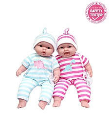 """Lots to Cuddle Babies 13"""" Twins Soft Body Baby Dolls for Children 2 Years and Older, Designed by Berenguer"""
