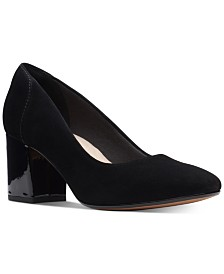 Clarks Collection Women's Chantelle Ava Block-Heel Pumps