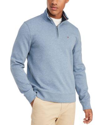Tommy Hilfiger Jumper Mens  Zip  Neck Sweater Quarter Zip New