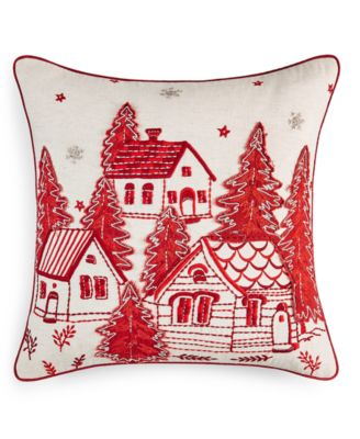 """Village 18"""" x 18"""" Decorative Pillow, Created for Macy's"""
