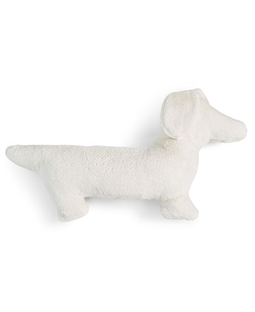 Martha Stewart Collection Furry Dog Decorative Pillow, Created for Macy's