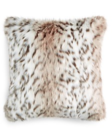 "Martha Stewart Collection Snow Leopard 20"" x 20"" Decorative Pillow, Created For Macy's"