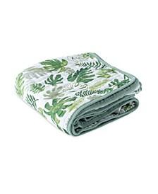 Tropical Leaf Cotton Muslin Quilt