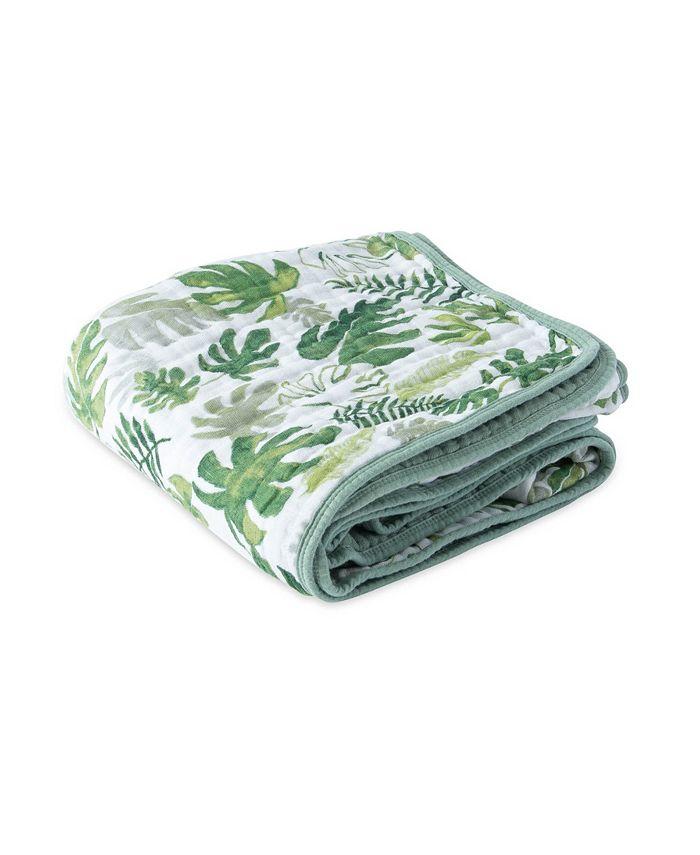 Little Unicorn - Tropical Leaf Cotton Muslin Quilt