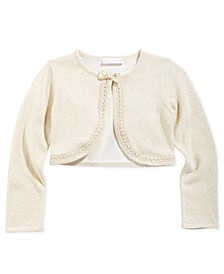 Little Girls Cropped Metallic Cardigan