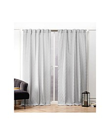 "Trellis Matelasse Hidden Tab Top Curtain Panel Pair, 54"" X 84"""