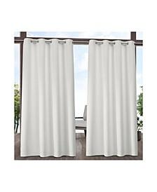 Indoor/Outdoor Solid Cabana Grommet Top Curtain Panel Pair
