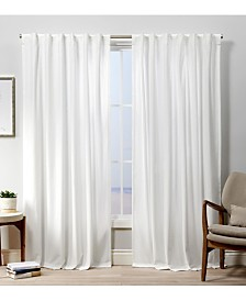 Exclusive Home Curtains Velvet Heavyweight Hidden Tab Top Curtain Panel Pair