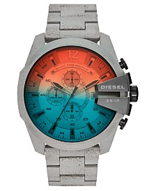 Diesel Men's Chronograph Mega Chief Concrete Stainless Steel Bracelet Watch 51mm, Limited Edition