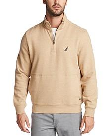 Men's Classic-Fit Quarter-Zip Fleece Sweatshirt