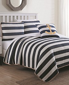 Estate Hampton Quilt Set Twin with Decorative Pillow