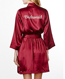 Embroidered 'Bridesmaid' Robe, Online Only
