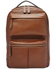 Fossil Men's Abrams Leather Sling Backpack