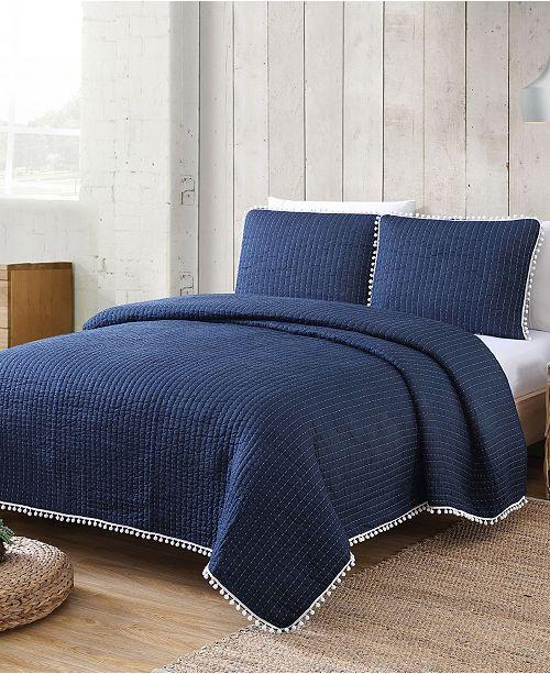 American Home Fashion Estate Costa Brava 3 Piece Quilt Set, Full/Queen